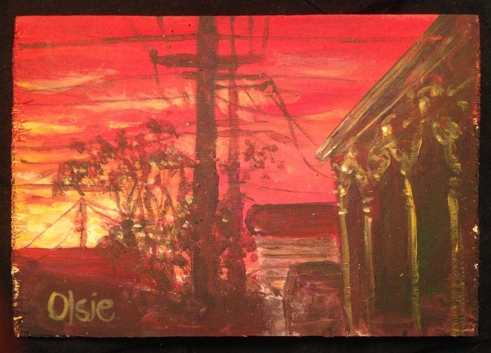 """Marigny Sunset"" original fine art by Eric Clay Dean"