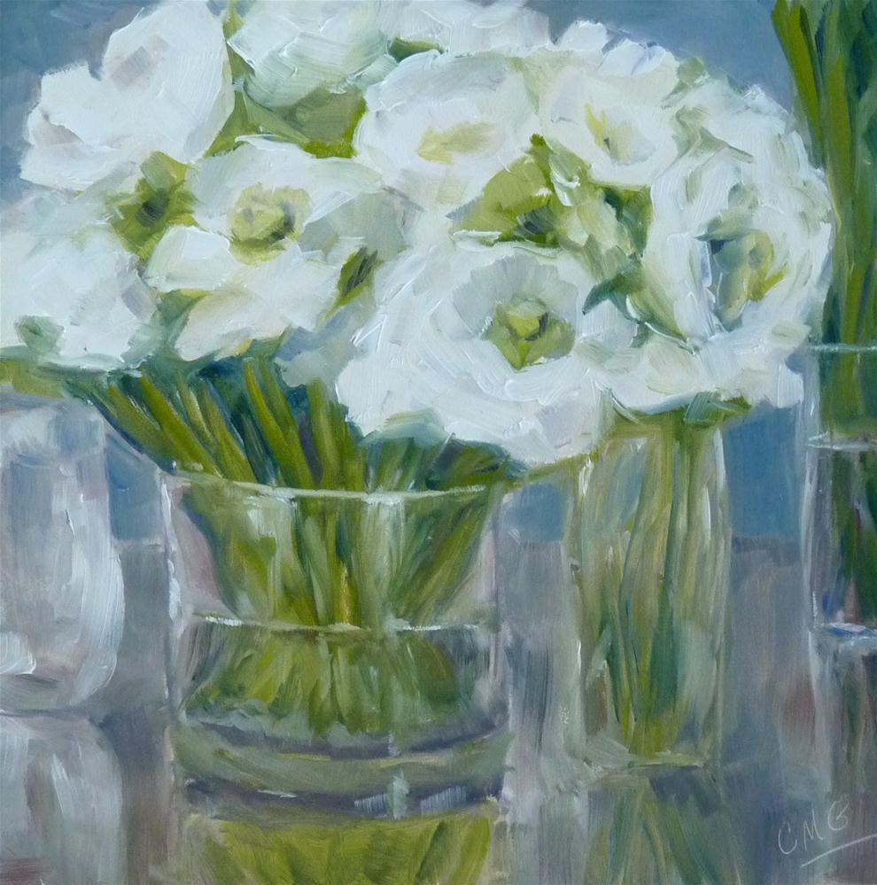 """Anemones in Glass"" original fine art by Cindy Greene"