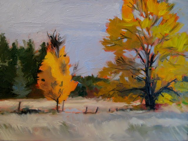 """Peaceful change  landscape oil painting"" original fine art by Robin Weiss"