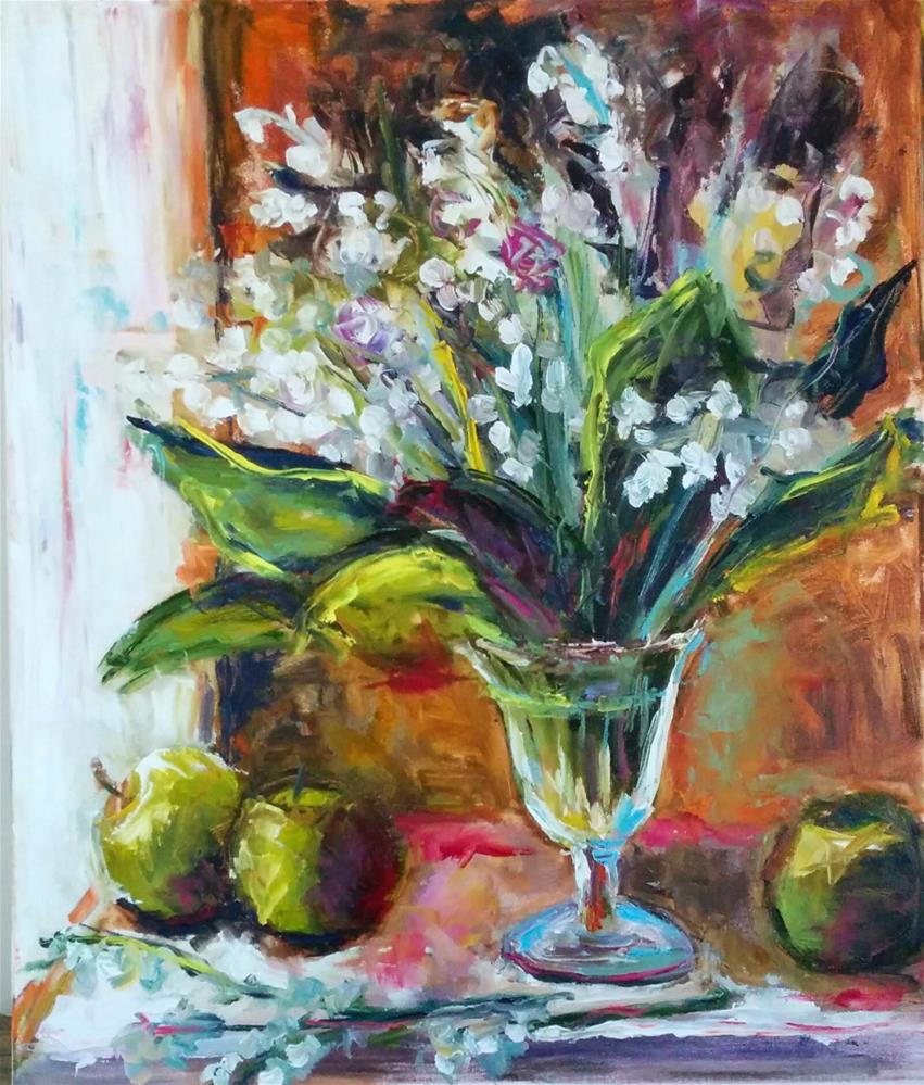 """Lilies of the Valley "" original fine art by pepa sand"
