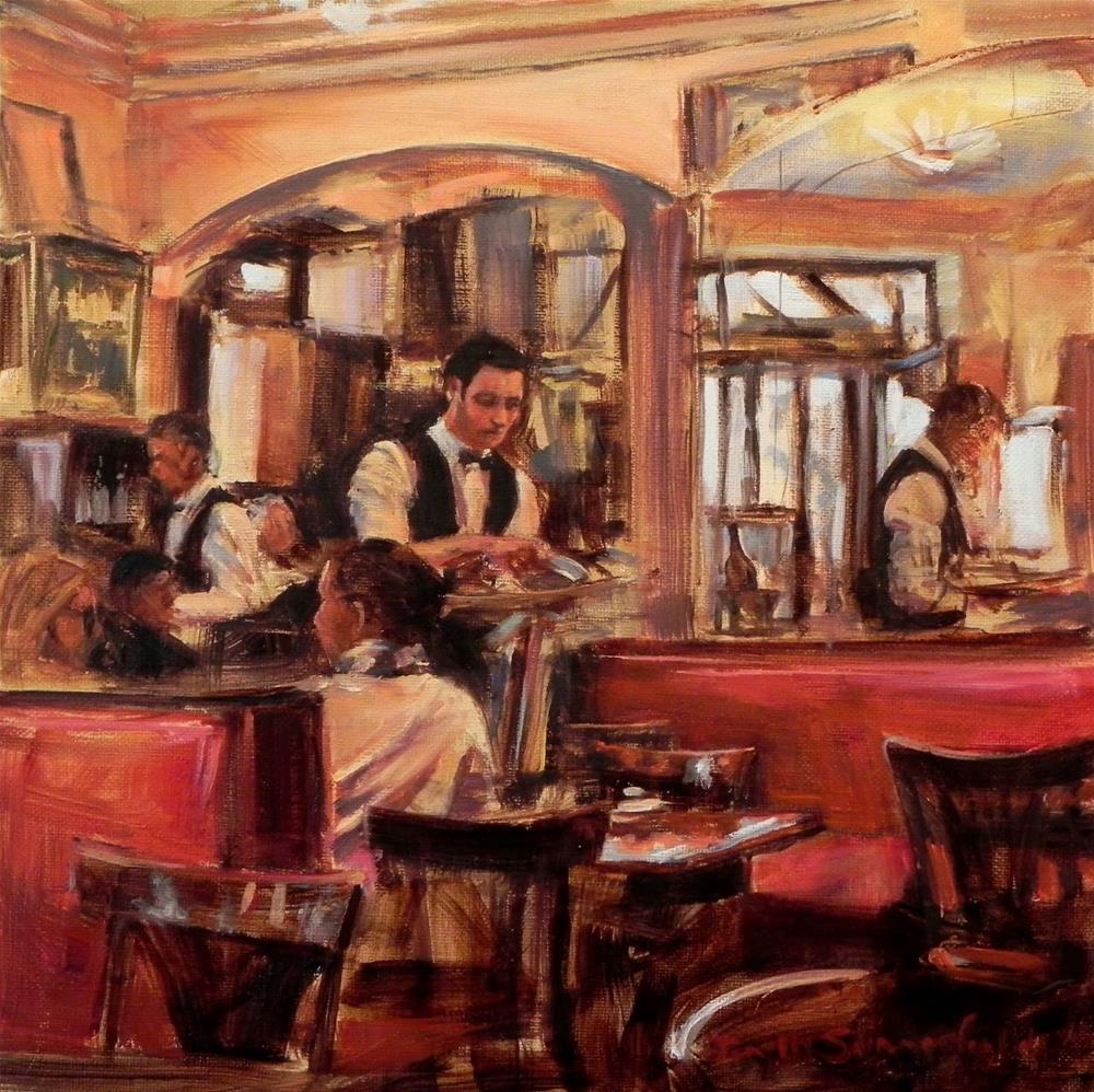 """Cafe de Flore"" original fine art by Jonelle Summerfield"