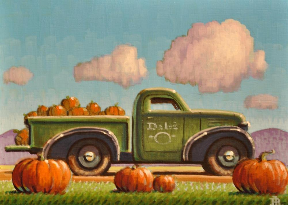 """Fall Pumpkins"" original fine art by Robert LaDuke"