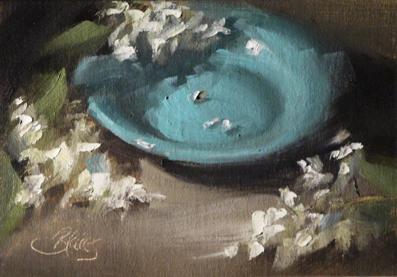 """Blooms and a Blue Bowl"" original fine art by Pamela Blaies"