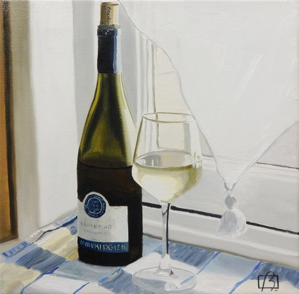 """Wine O'Clock Deux"" original fine art by Andre Beaulieu"