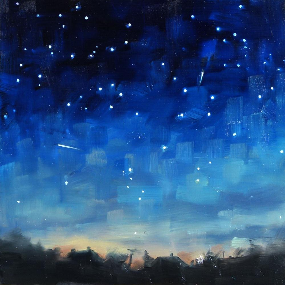 """Lyrid Meteors"" original fine art by Deb Anderson"