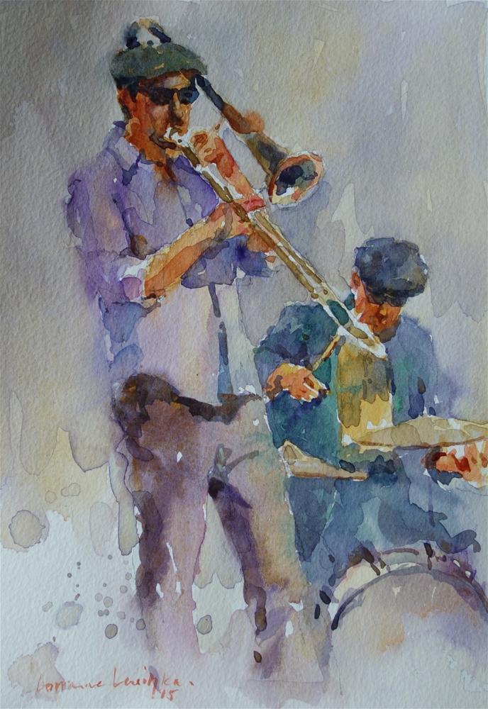 """Rhythm and Brass"" original fine art by Lorraine Lewitzka"