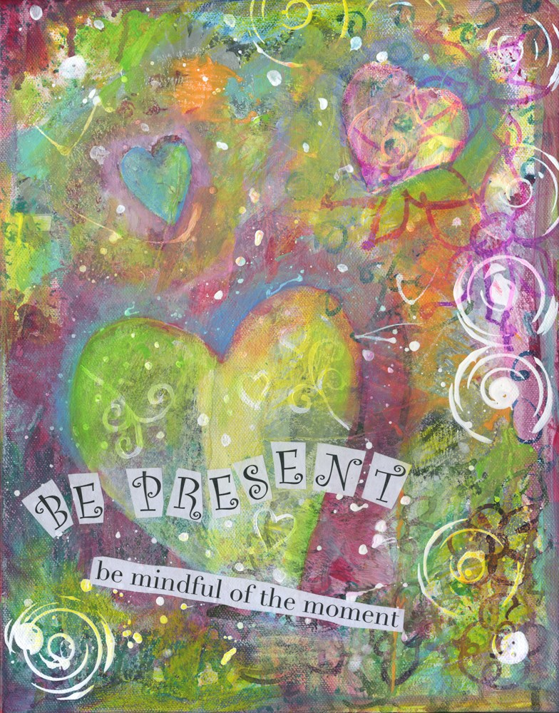 """Be Present"" original fine art by Kali Parsons"