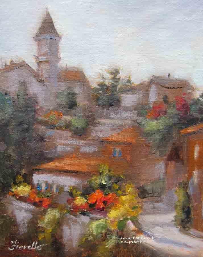 """Albas, Cloudy Day"" original fine art by Pat Fiorello"