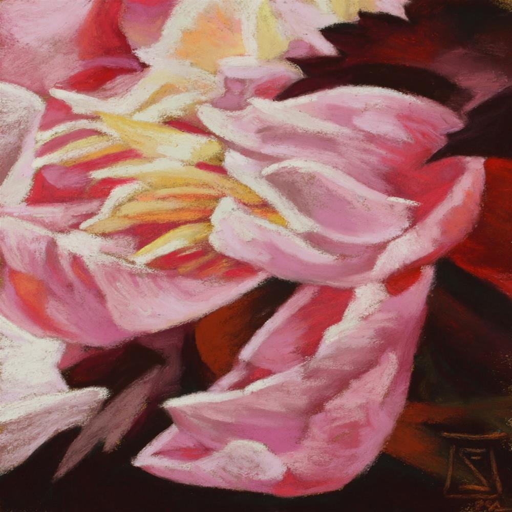 """Peony Day 2"" original fine art by Sheila Evans"