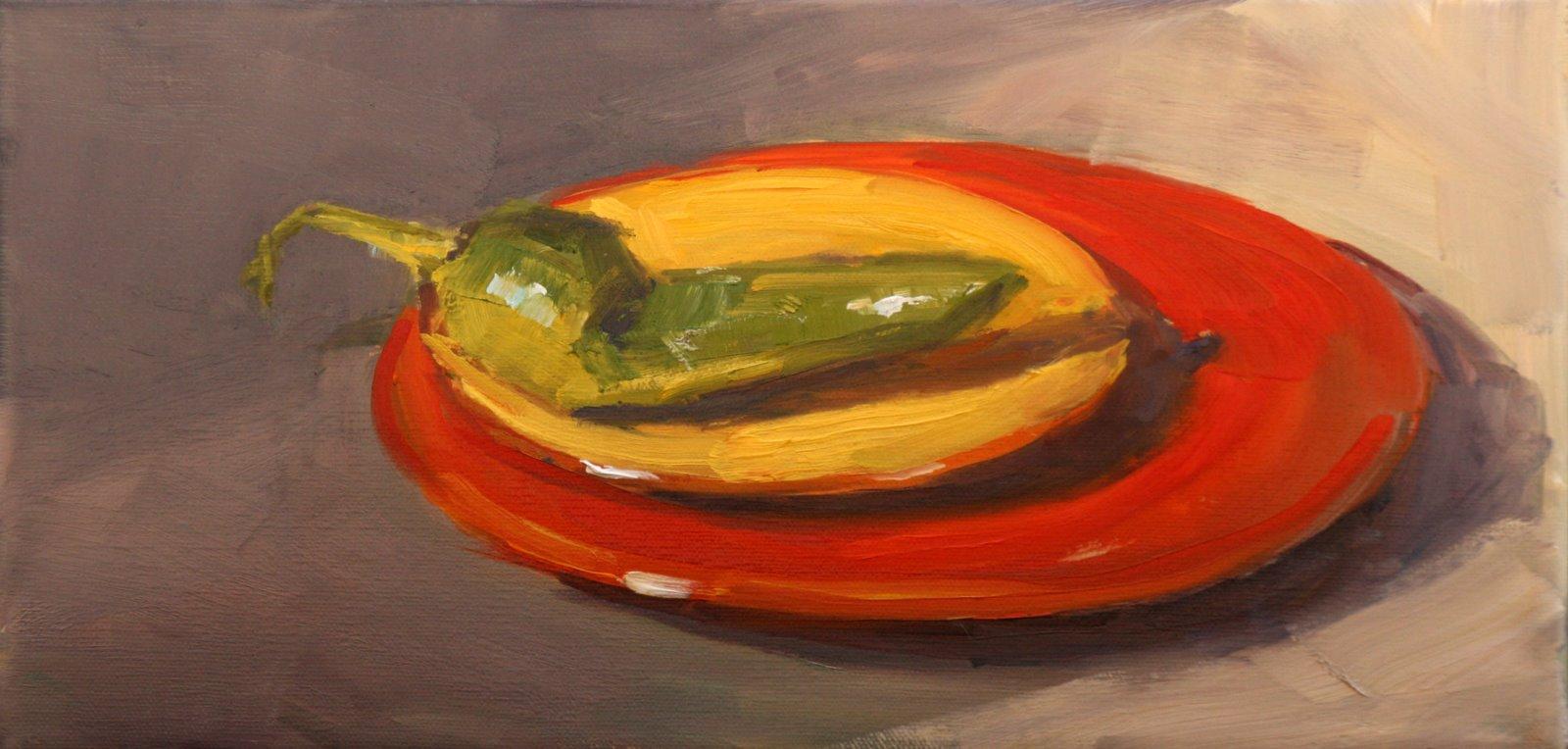 """hot plates"" original fine art by Carol Carmichael"
