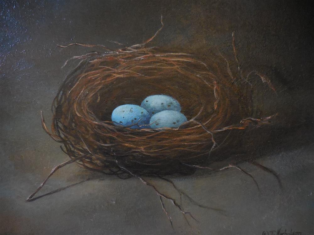 """Robin's Nest"" original fine art by Terri Nicholson"