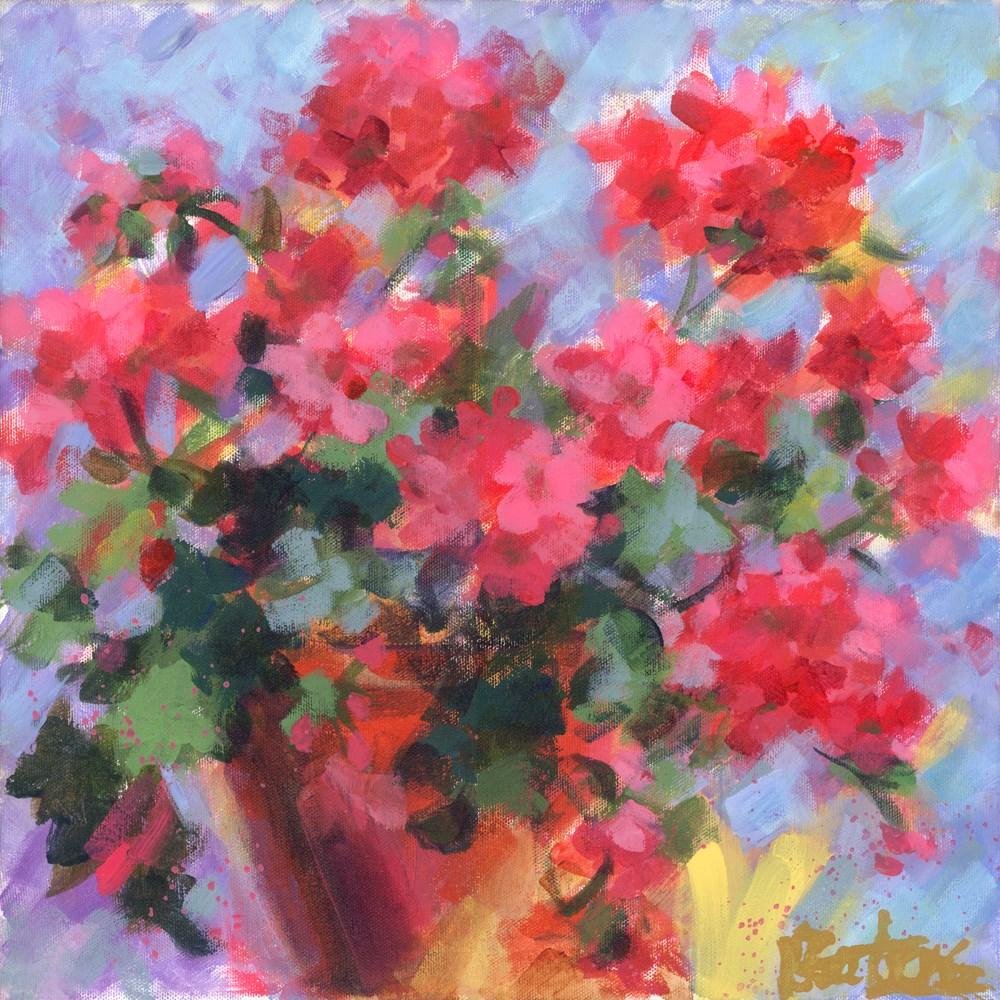 """""""Just Geraniums"""" original fine art by Pamela Gatens"""