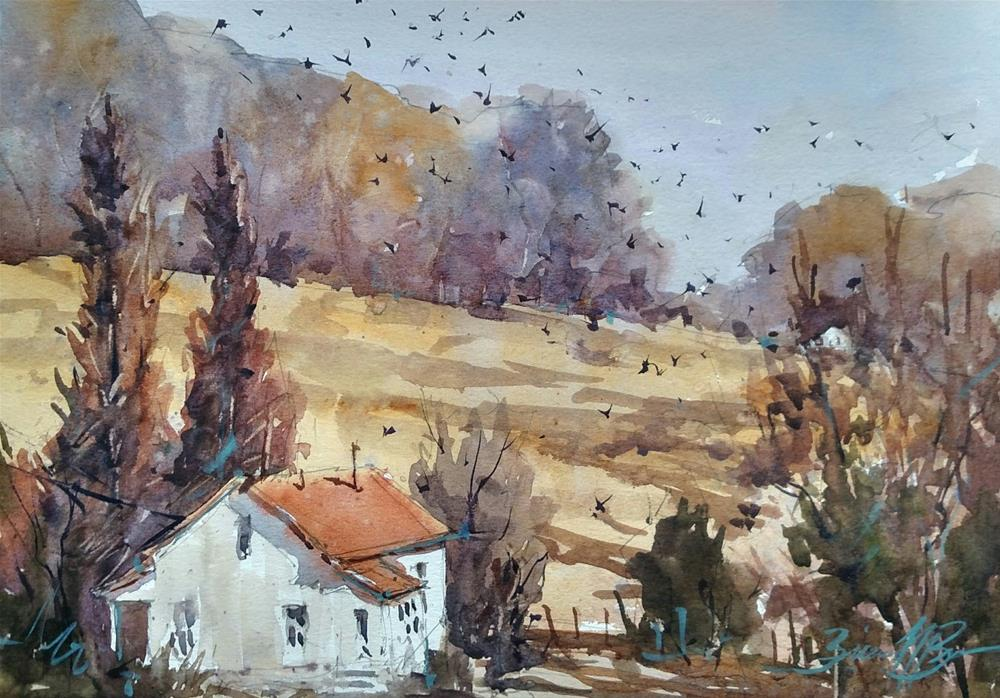 """Sarah's Crows"" original fine art by Brienne M Brown"