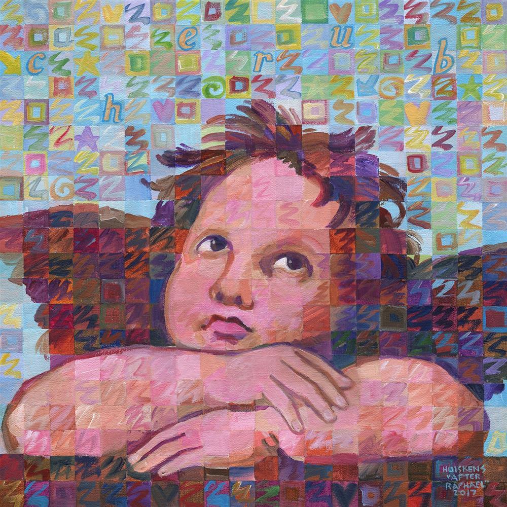 """Sistine Cherub No. 2"" original fine art by Randal Huiskens"