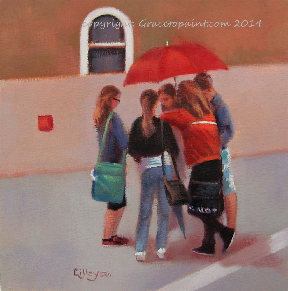 """Bus Stop #2"" original fine art by Maresa Lilley"