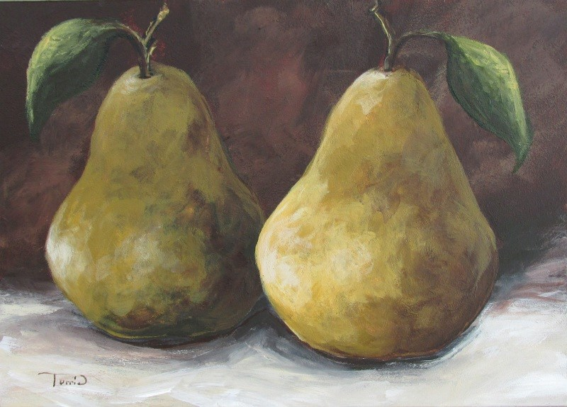 """Lucky Pears II"" original fine art by Torrie Smiley"