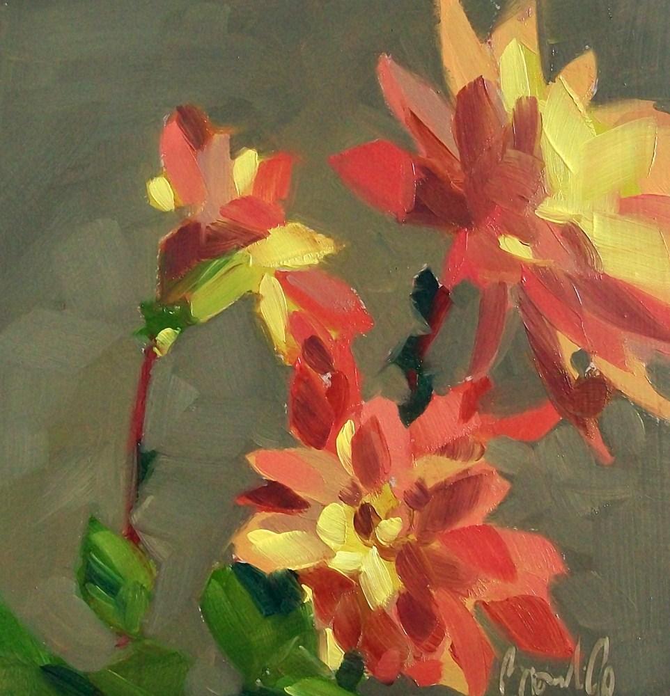 """Last dahlias"" original fine art by Brandi Bowman"