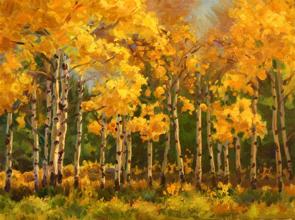 """Fall Aspen Grove"" original fine art by K.R. McCain"