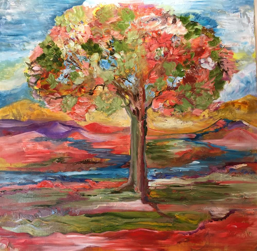 """""""I love Fall"""" original fine art by Yvonne Snead"""