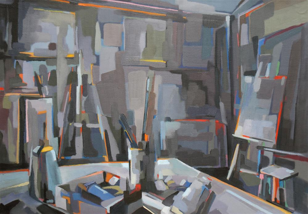 """Grey studio"" original fine art by Olga Touboltseva-Lefort"