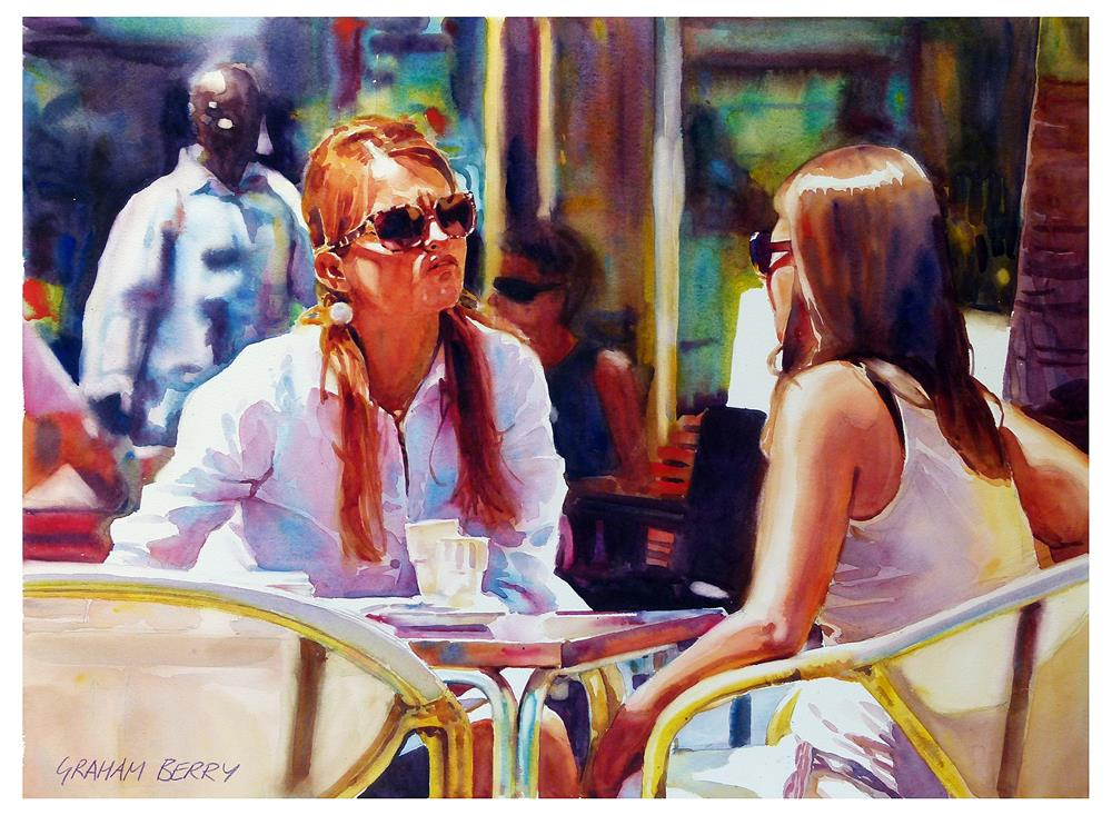 """Coffees in the sun."" original fine art by Graham Berry"