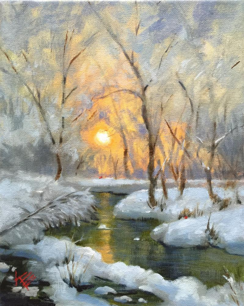 """Winter Morning"" original fine art by Krista Eaton"