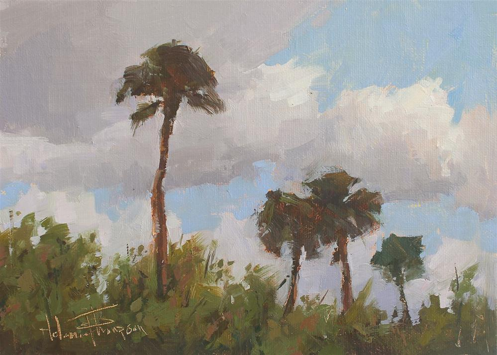 """Palm Breeze"" original fine art by Melanie Thompson"