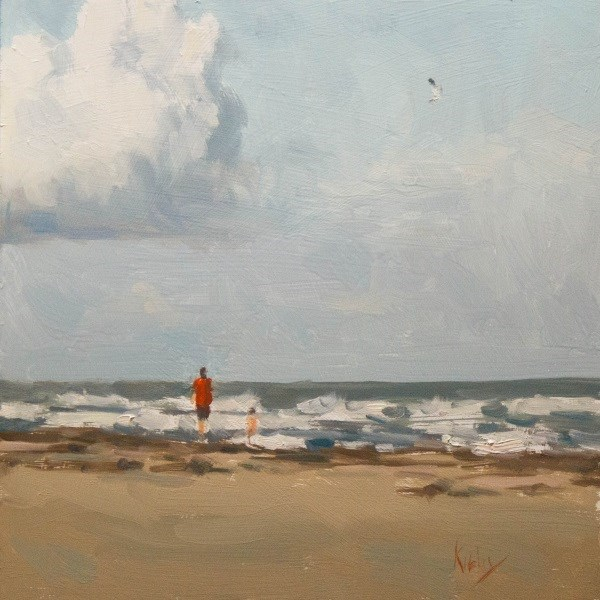 """Walking the Beach"" original fine art by Randall Cogburn"