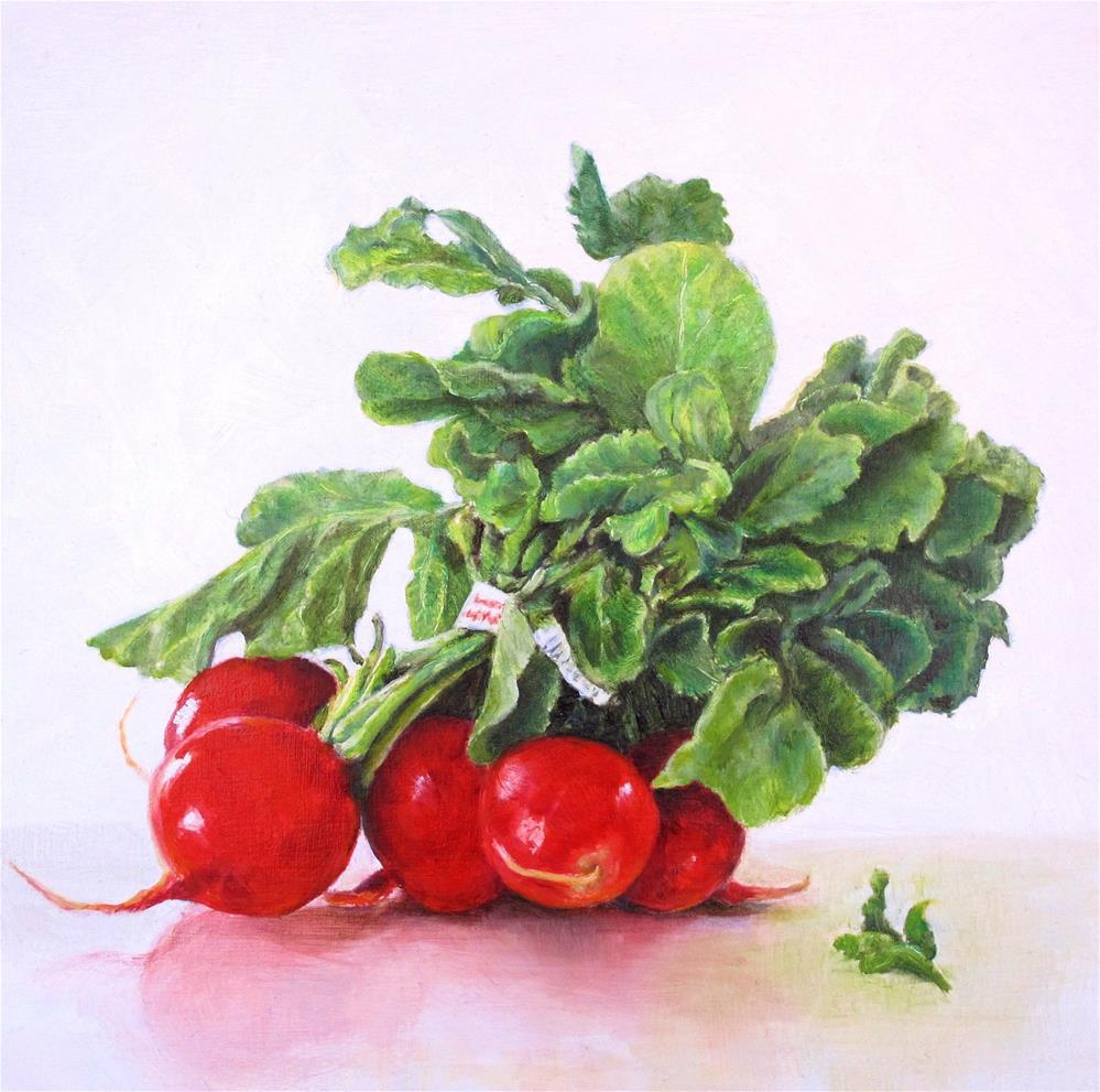 """Bright Red Radishes"" original fine art by Linda Demers"