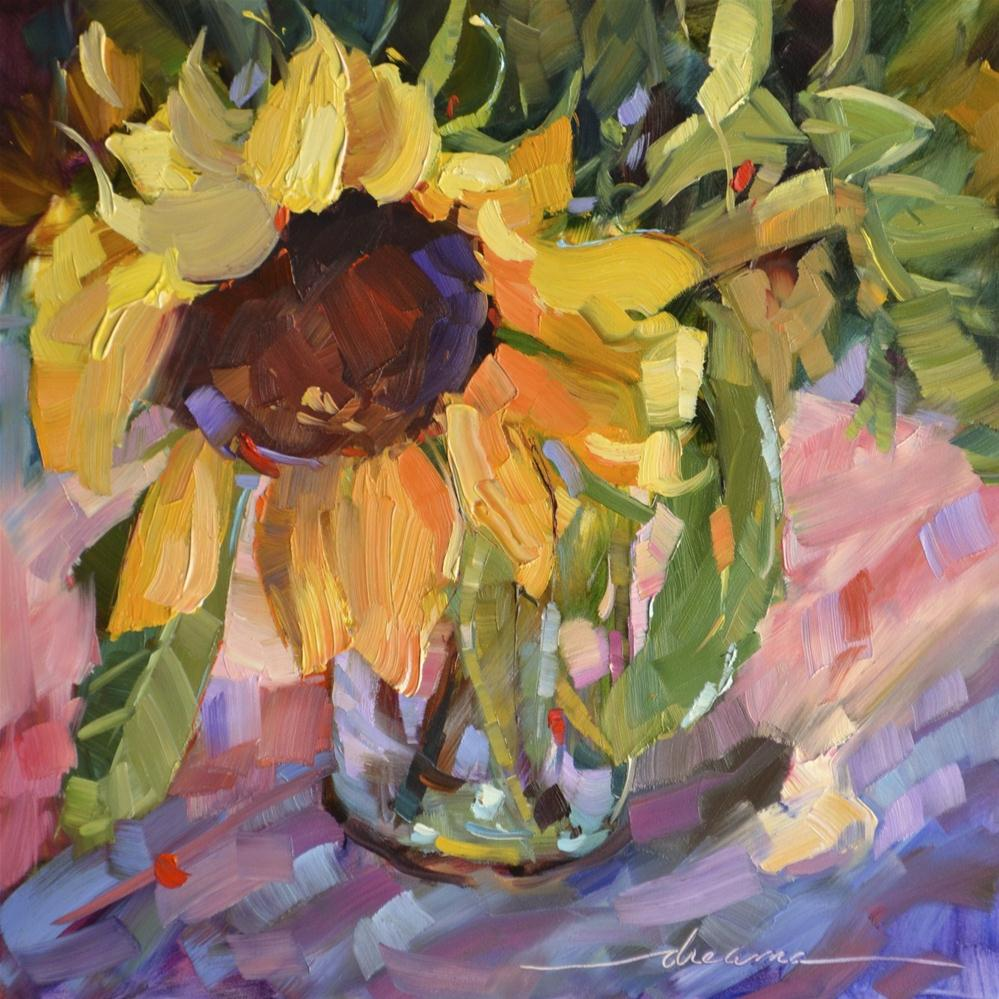 """Sabbath Song Sunflower"" original fine art by Dreama Tolle Perry"