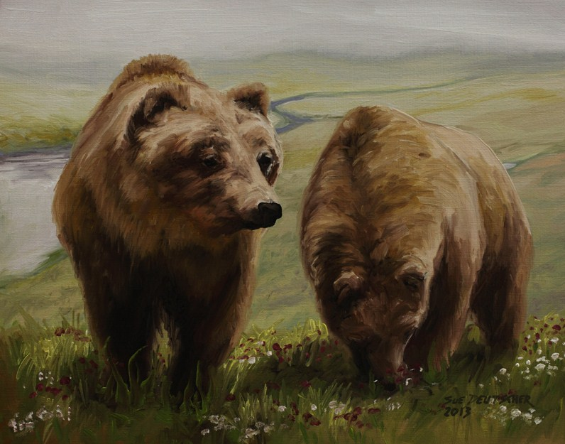 """Alaskan Brown Bear"" original fine art by Sue Deutscher"