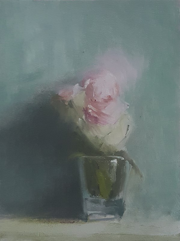 """Glass of Flowers"" original fine art by Neil Carroll"