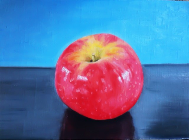 """Pink Lady Apple"" original fine art by James Coates"