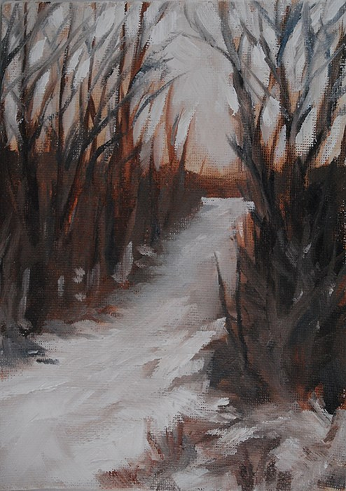 """Winter Light"" original fine art by J M Needham"