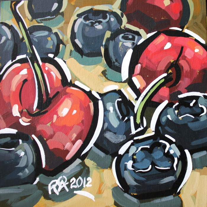 Healthy snacks 3 original fine art by Roger Akesson