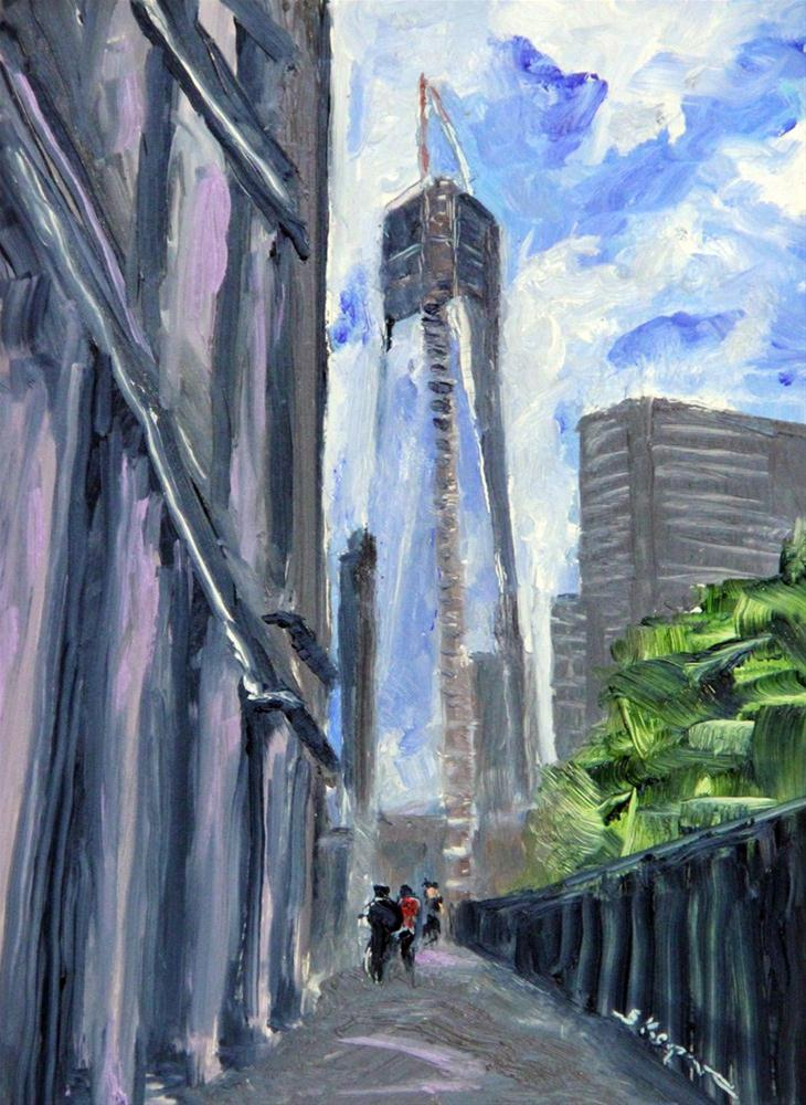 """One World Trade Center"" original fine art by Shelley Koopmann"