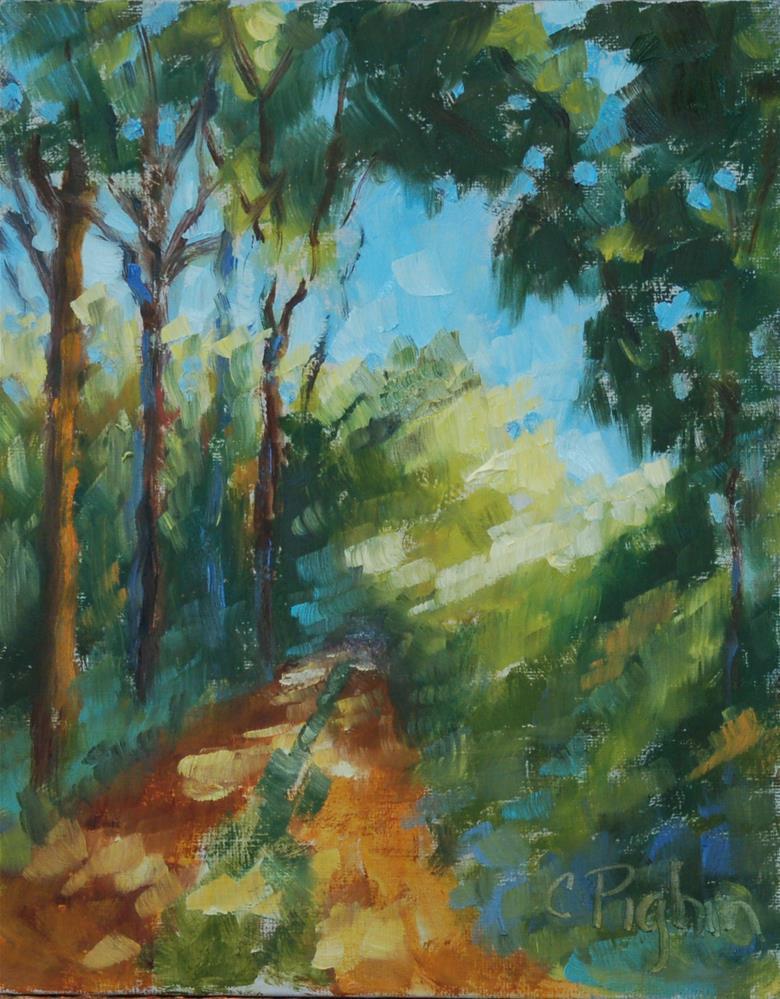 """End of the Road"" original fine art by Carol Pighin"