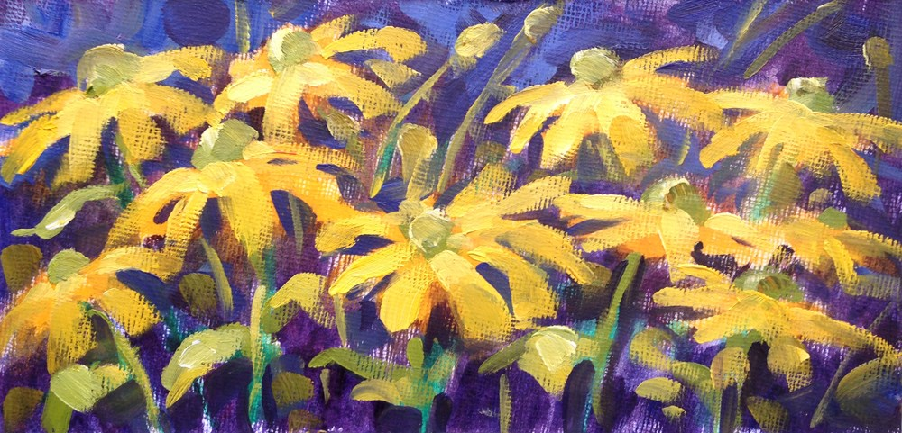"""Sunflower Study"" original fine art by Jeanne Bruneau"