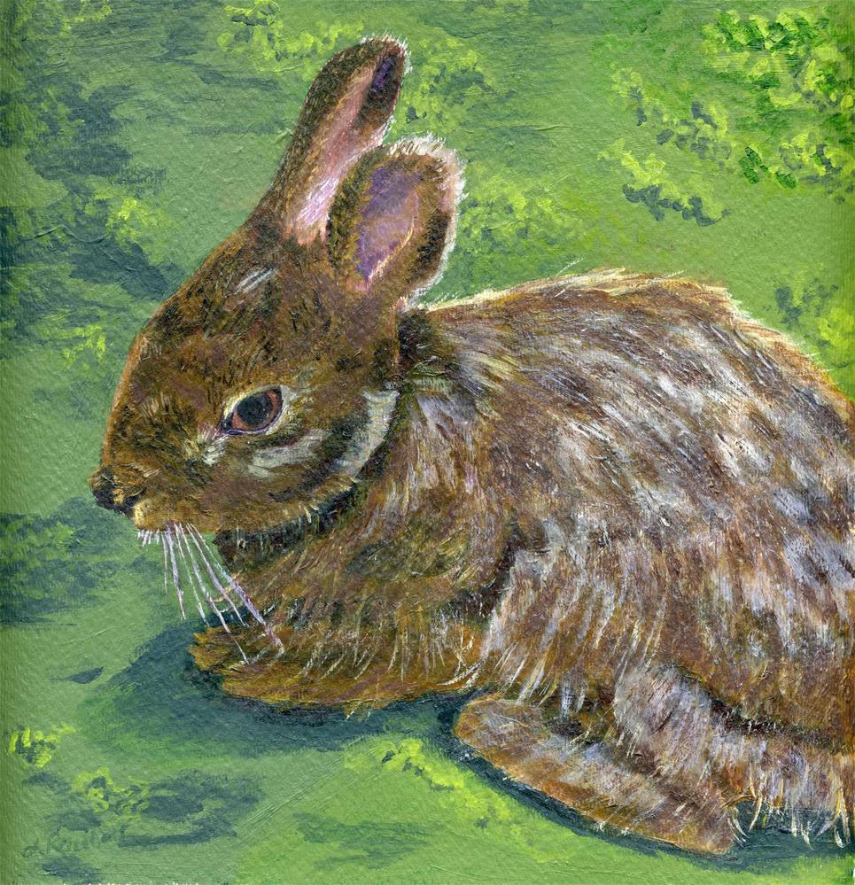 """Cottontail"" original fine art by Lynne Reichhart"