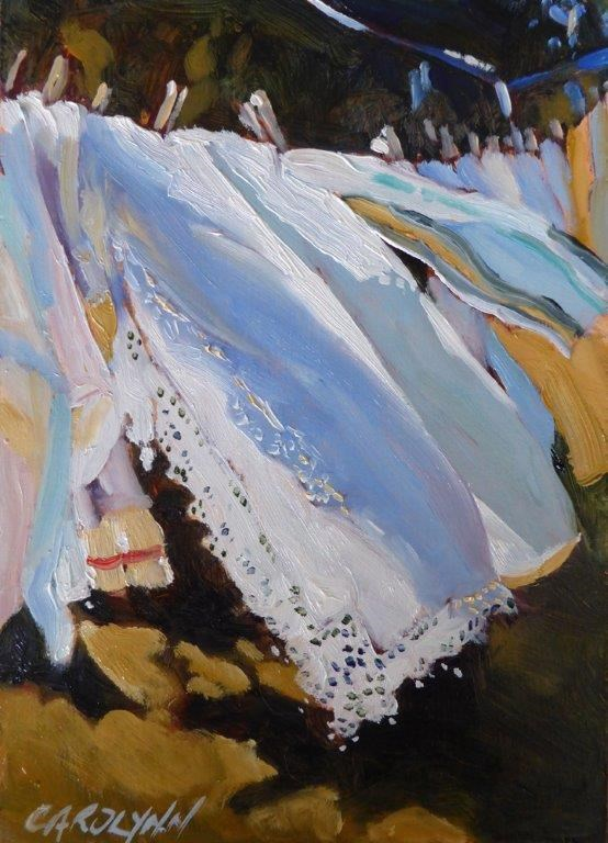 """Blowing In The Wind"" original fine art by Carolynn Doan"