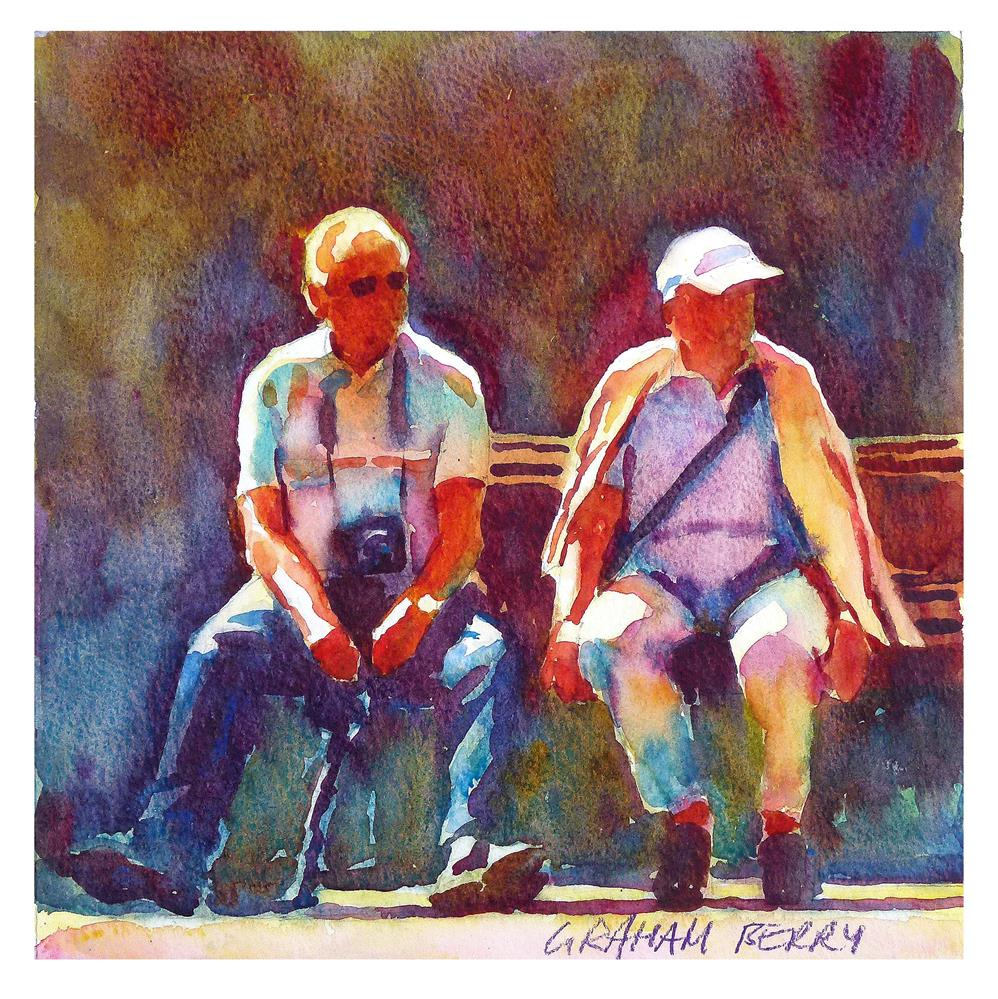 """Bench for two"" original fine art by Graham Berry"