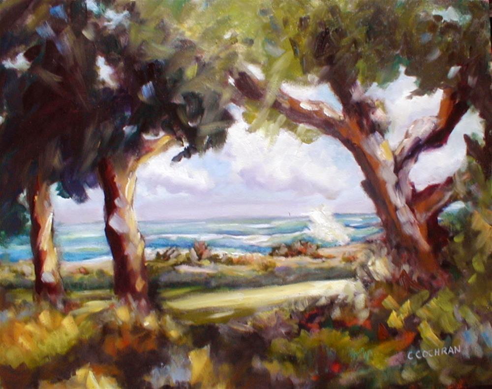 """By the Sea"" original fine art by Carol Cochran"