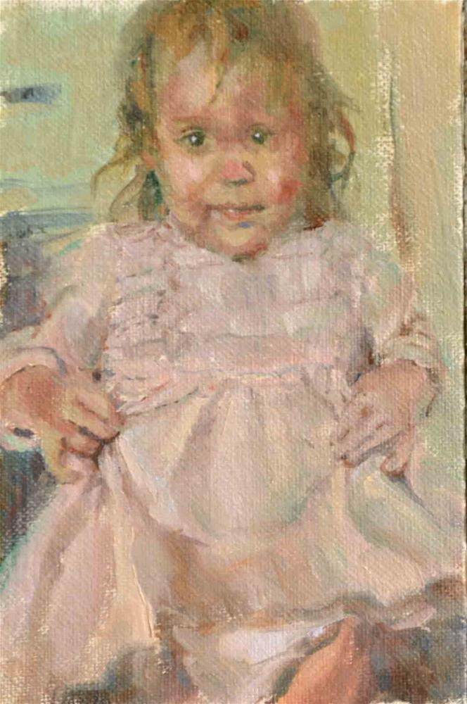 """Little Girl"" original fine art by alicia tredway"
