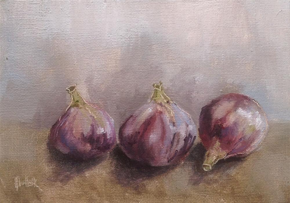 """Three figs #686"" original fine art by Heidi Shedlock"
