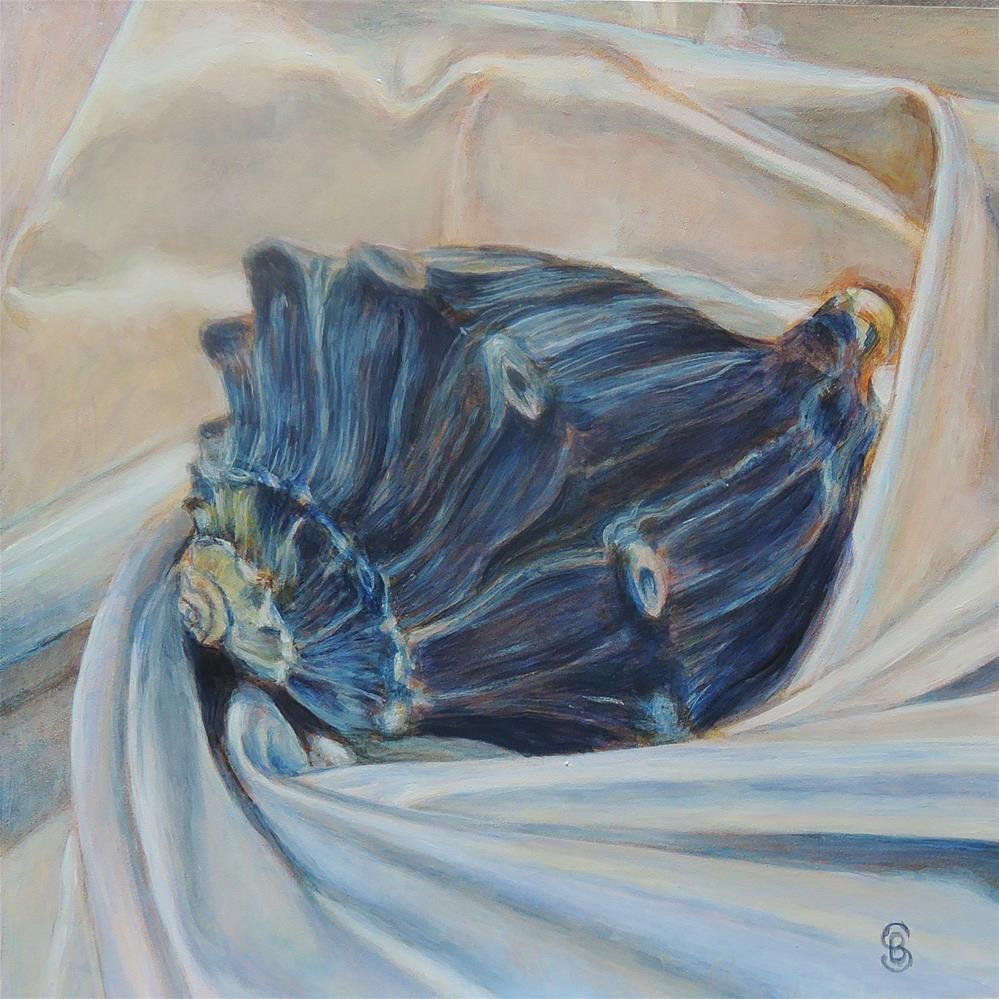 """Shackleford Shells no. 2. Grey Whelk"" original fine art by Belinda Scheber"