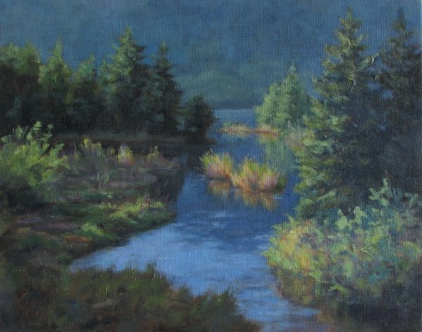 """Steep Creek Colors"" original fine art by Christine Lewis"