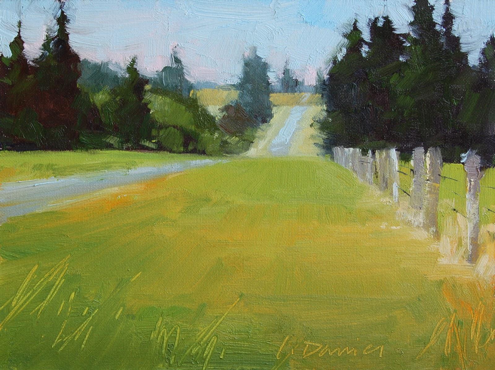 """""""A New Road and an unexpected detour"""" original fine art by Laurel Daniel"""
