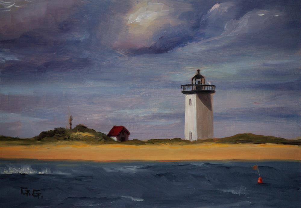 """""""Provincetown Lighthouse"""" original fine art by G. G. Slockett"""