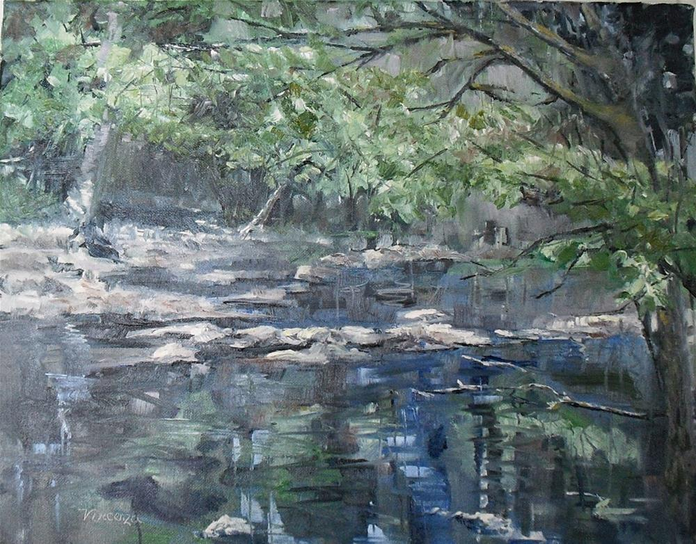 """Cherokee Park ~ 14x18~ oil on canvas"" original fine art by Vincenza Harrity"