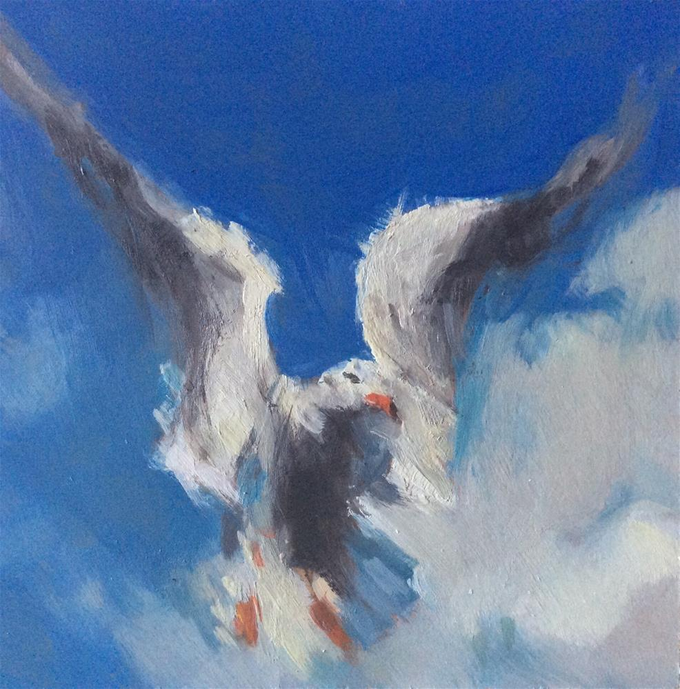 """Spirit Bird"" original fine art by Paula Howson-Green"